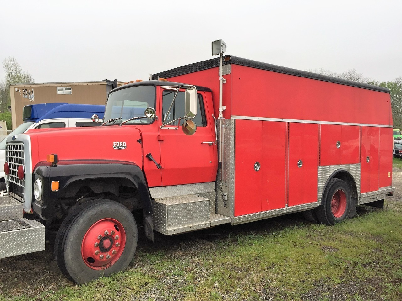 Used, 1985, FORD, F9000, Fire Truck