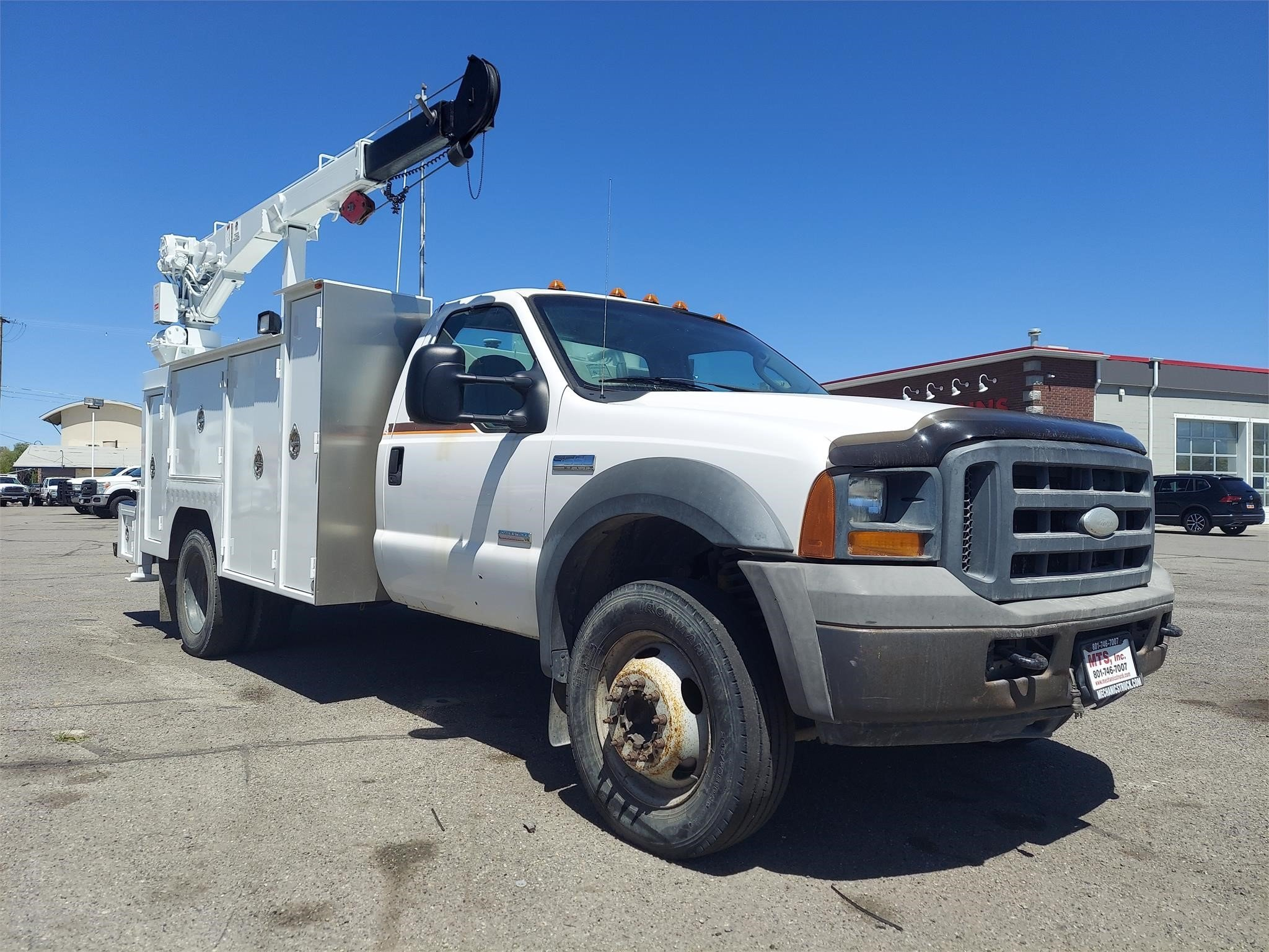 Used, 2005, FORD, F550, Crane Truck